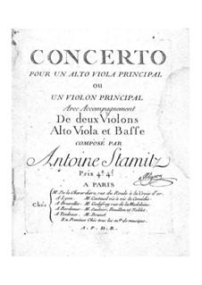 Concerto No.2 for Viola (or Violin) with Strings: Concerto No.2 for Viola (or Violin) with Strings by Anton Stamitz