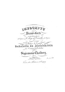 Impromptu on Themes from 'Siège de Corinth' by Rossini, Op.3: Impromptu on Themes from 'Siège de Corinth' by Rossini by Sigismond Thalberg