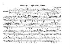 Symphony No.5 in D Major 'Reformation', Op.107: versão para piano de quatro mãos by Felix Mendelssohn-Bartholdy