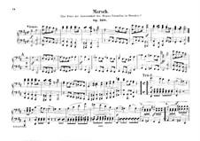 March in D Major for Orchestra, Op.108: versão para piano de quatro mãos by Felix Mendelssohn-Bartholdy