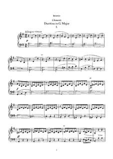 Duettino in G Major: para piano de quadro mãos by Muzio Clementi