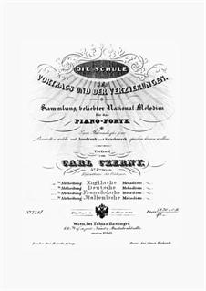Die Schule des Vortrags und der Verzierungen, Op.575: Volume I by Carl Czerny
