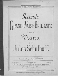 Grand Waltz Brilliant No.2, Op.20: Para Piano by Julius Schulhoff