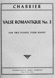 Valse Romantique No.3: Valse Romantique No.3 by Emmanuel Chabrier