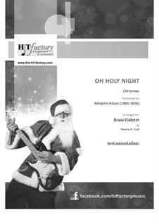 O Holy Night: para quarteto de bronze by Adolphe Adam