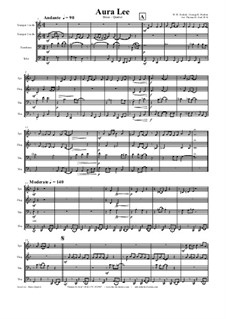 Aura Lee - Love me tender : para quarteto de bronze by folklore