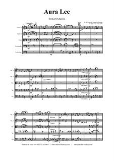 Aura Lee - Love me tender : para orquetra de cordas by folklore