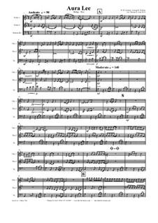 Aura Lee - Love me tender : para trio de cordas by folklore