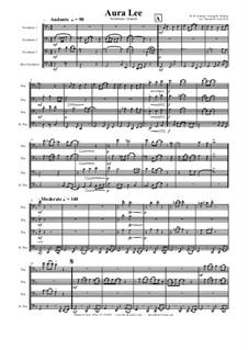Aura Lee - Love me tender : For trombone quartet by folklore