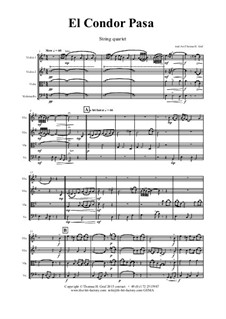 El condor pasa: para quartetos de cordas by folklore