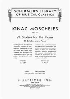 Twenty-Four Etudes for Piano, Op.70: todos os Etudes by Ignaz Moscheles