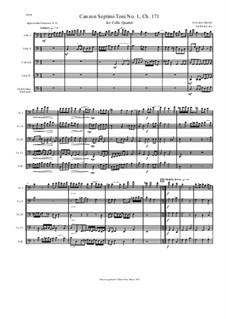 Canzon Septimi Toni No.1, for Cello Quartet, Ch.171: Canzon Septimi Toni No.1, for Cello Quartet by Giovanni Gabrieli