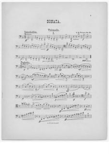 Sonata for Cello and Piano in F Major, Op.34: Sonata for Cello and Piano in F Major by Alfred Dudley Turner