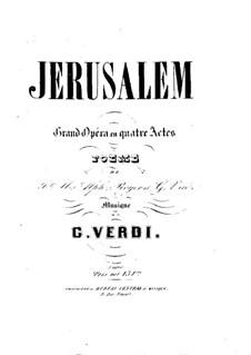 Jerusalem: arranjos para solistas, coral e piano by Giuseppe Verdi