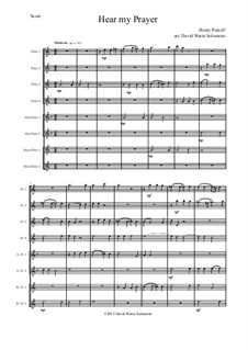 Hear my Prayer O Lord: For flute choir by Henry Purcell