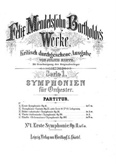 Symphony No.1 in C Minor, Op.11: Partitura completa by Felix Mendelssohn-Bartholdy