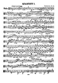 String Quartet No.1 in E Flat Major, Op.12: parte viola by Felix Mendelssohn-Bartholdy