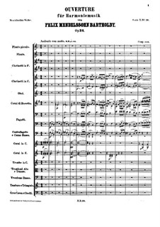 Overture for Wind Instruments, Op.24: Partitura completa by Felix Mendelssohn-Bartholdy