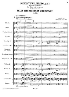The First Walpurgis Night, Op.60: movimento I by Felix Mendelssohn-Bartholdy