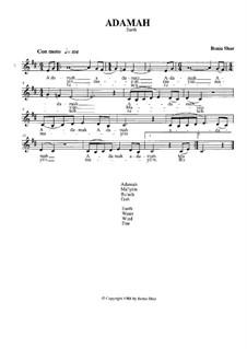 Adamah (Solo version): Adamah (Solo version) by Bonia Shur