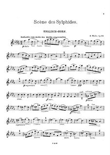 Scène des Sylphides, Op.66: Score for clarinet, english horn and piano – english horn part by Heinrich Molbe
