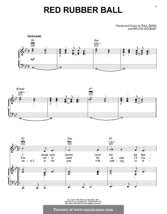 Red Rubber Ball (The Cyrkle): Para vocais e piano (ou Guitarra) by Bruce Woodley, Paul Simon
