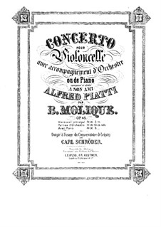 Concerto for Cello and Orchestra in D Major, Op.45: Arranjo para violoncelo e piano - parte solo by Bernhard Molique