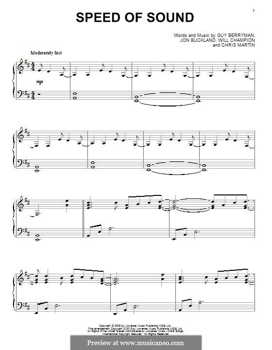 Speed of Sound (Coldplay): Para Piano by Chris Martin, Guy Berryman, Jonny Buckland, Will Champion
