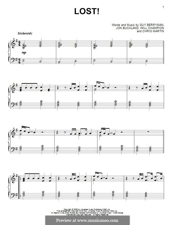 Lost+ (Coldplay feat. Jay-Z): Para Piano by Chris Martin, Guy Berryman, Jonny Buckland, Jay-Z, Will Champion