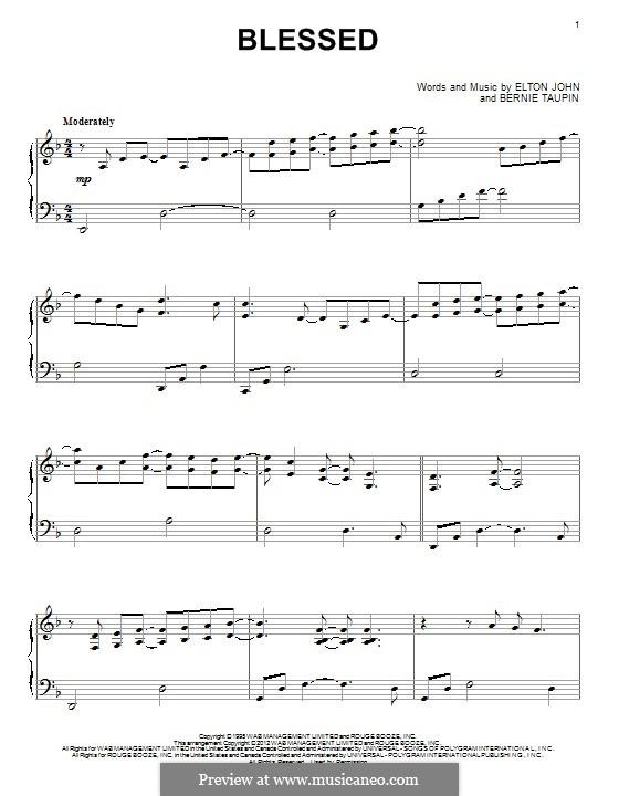 Blessed: Para Piano by Elton John