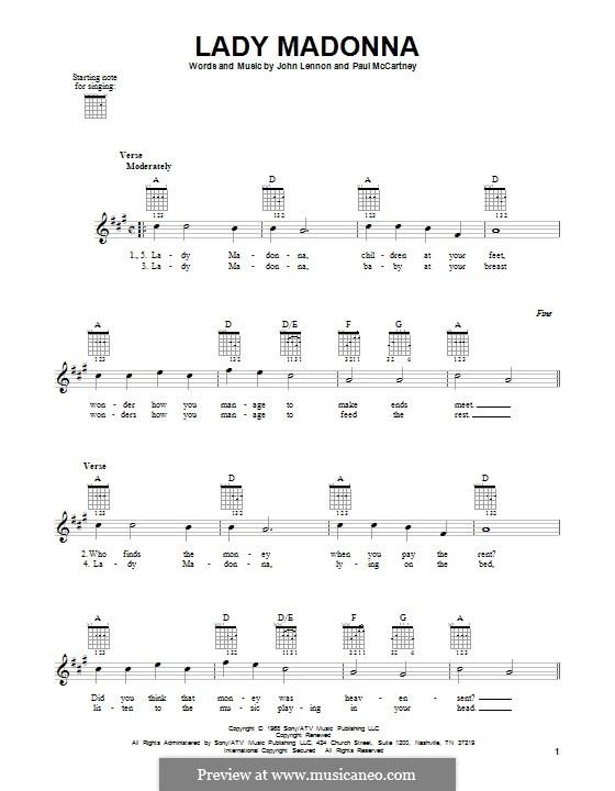 Lady Madonna (The Beatles): Para guitarra com guia by John Lennon, Paul McCartney