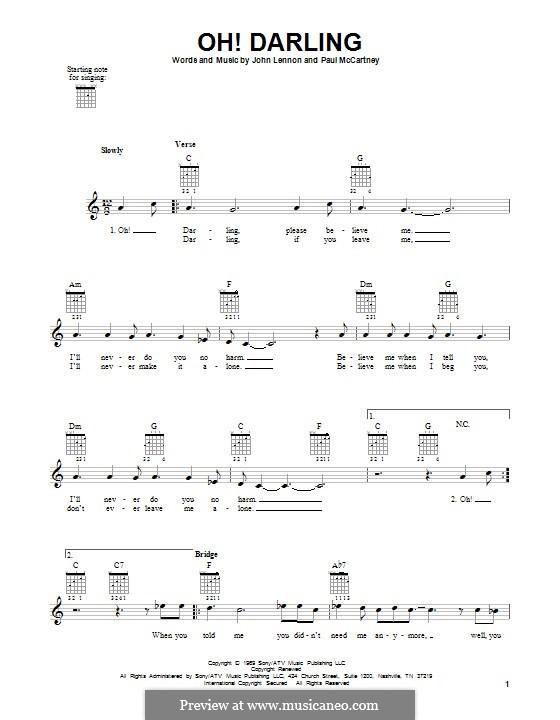 Oh! Darling (The Beatles): Para guitarra com guia by John Lennon, Paul McCartney
