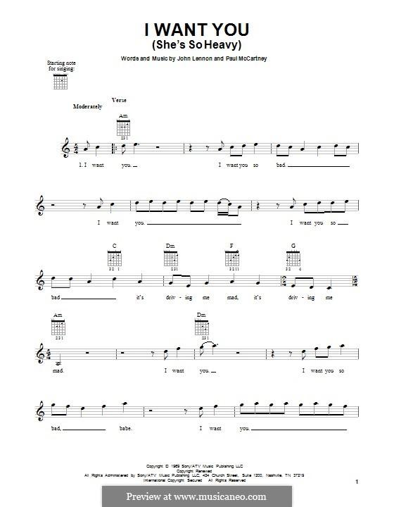 I Want You (She's So Heavy): Para guitarra com guia by John Lennon, Paul McCartney