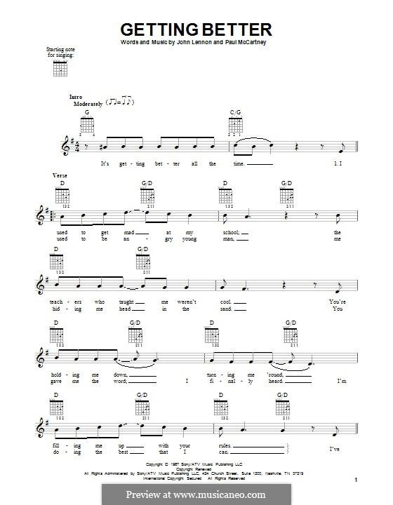 Getting Better (The Beatles): Para guitarra com guia by John Lennon, Paul McCartney