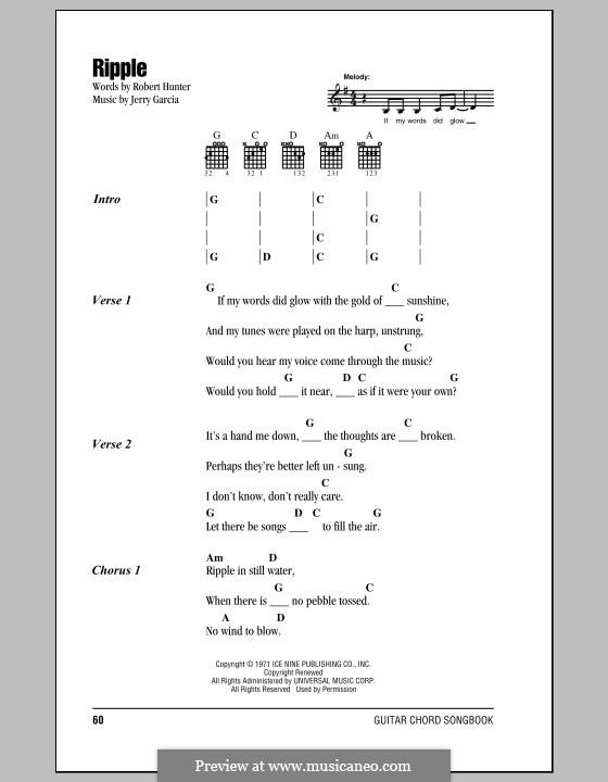 Ripple (The Grateful Dead): Letras e Acordes by Jerry Garcia, Robert Hunter
