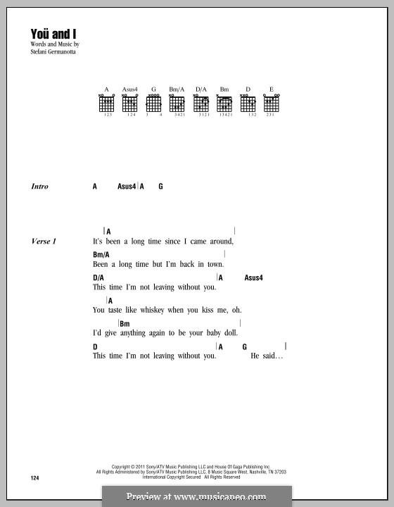 You and I (Lady Gaga): Letras e Acordes by Stefani Germanotta