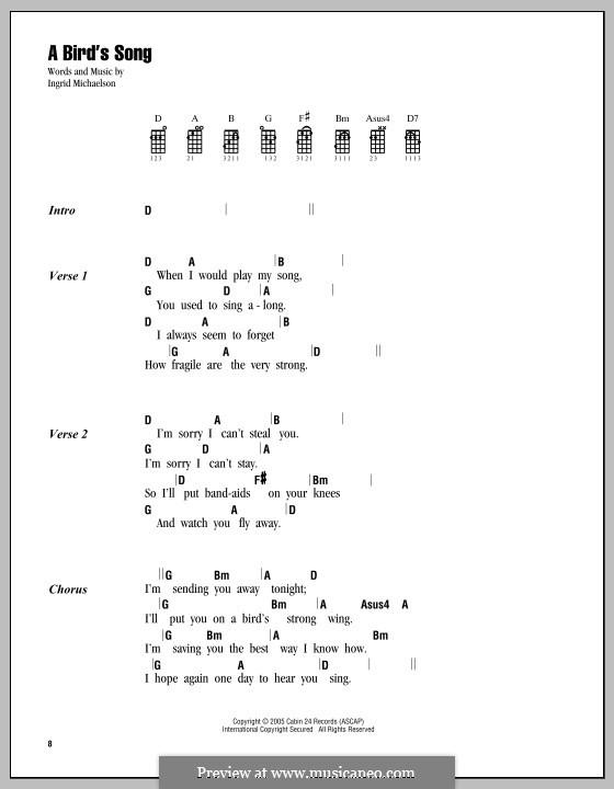 A Bird's Song: para ukulele by Ingrid Michaelson