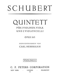 String Quintet in C Major, D.956 Op.163: violino parte II by Franz Schubert