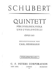 String Quintet in C Major, D.956 Op.163: violoncelo parte I by Franz Schubert