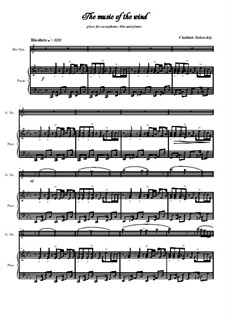 A collection of works for alto saxophone and piano 'The fabulous world music': No.3 The music of the wind by Vladimir Solonskiy