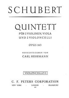 String Quintet in C Major, D.956 Op.163: violoncelo parte II by Franz Schubert