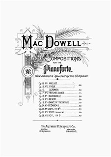 Serenade, Op.16: Para Piano by Edward MacDowell