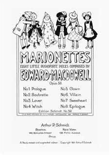 Marionettes. Eight Little Piano Pieces, Op.38: para um único musico (Editado por H. Bulow) by Edward MacDowell