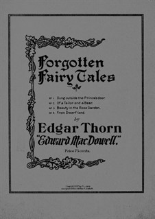 Forgotten Fairytales, Op.4: Para Piano by Edward MacDowell