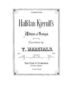 Album of Songs: Volume II by Halfdan Kjerulf