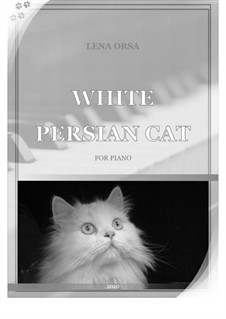 White Persian Cat: White Persian Cat by Lena Orsa