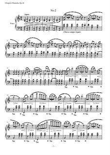 Mazurkas, Op.24: No.2 em C maior by Frédéric Chopin