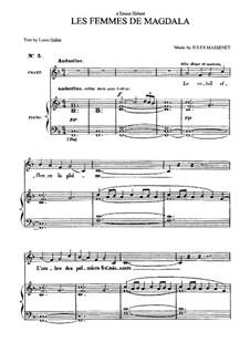 Les femmes de Magdala: para voz media e piano by Jules Massenet