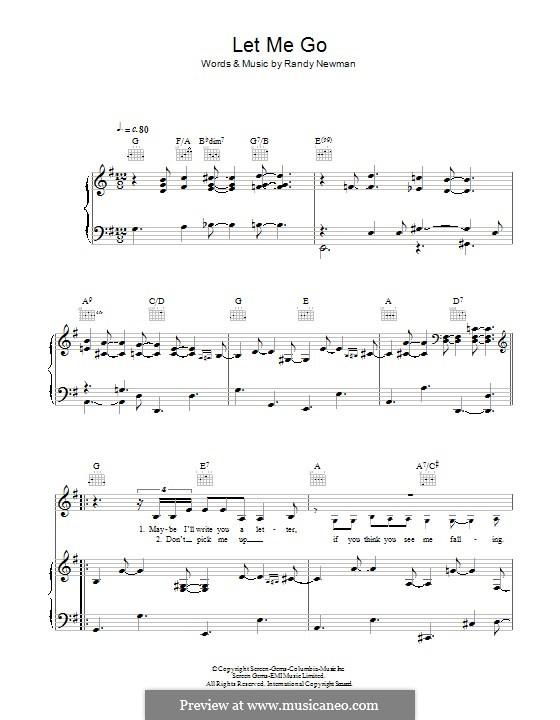 Let Me Go: Para vocais e piano (ou Guitarra) by Randy Newman
