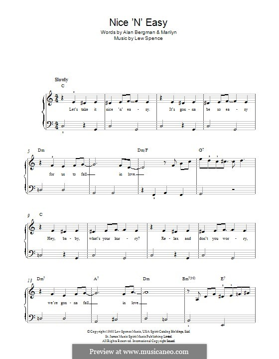 Nice 'n' Easy (Frank Sinatra): Para Piano by Alan Bergman, Lew Spence, Marilyn Bergman